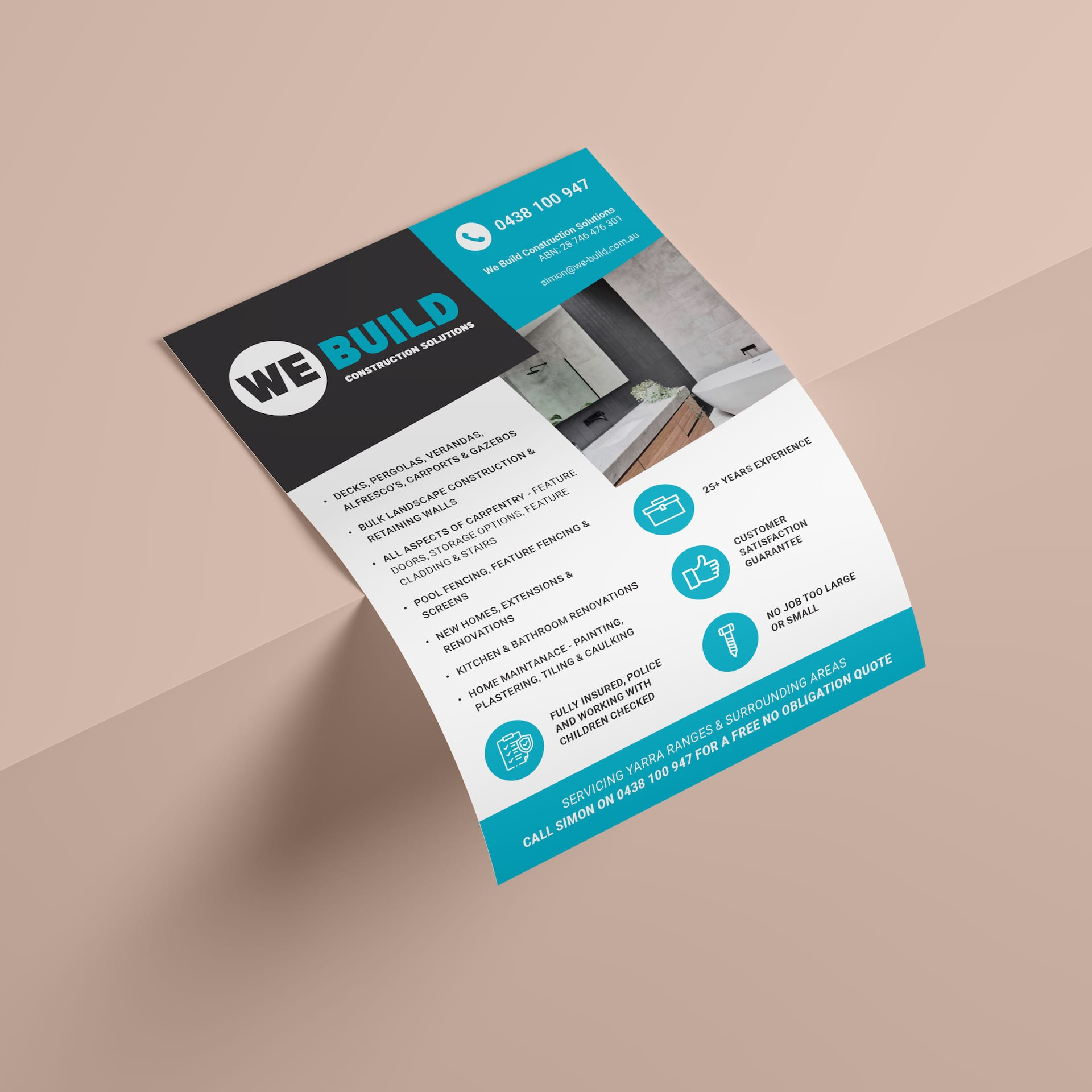 We Build Construction Solutions Flyers